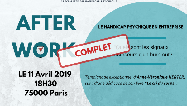 Afterwork Paris DCA Handicap, burn out, troubles psychosociaux, sensibilisation handicap entreprise