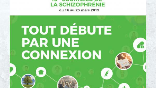 Infographie connexions : Journées de la schizophrénie avec DCA Handicap, troubles psychosociaux, sensibilisation handicap entreprise