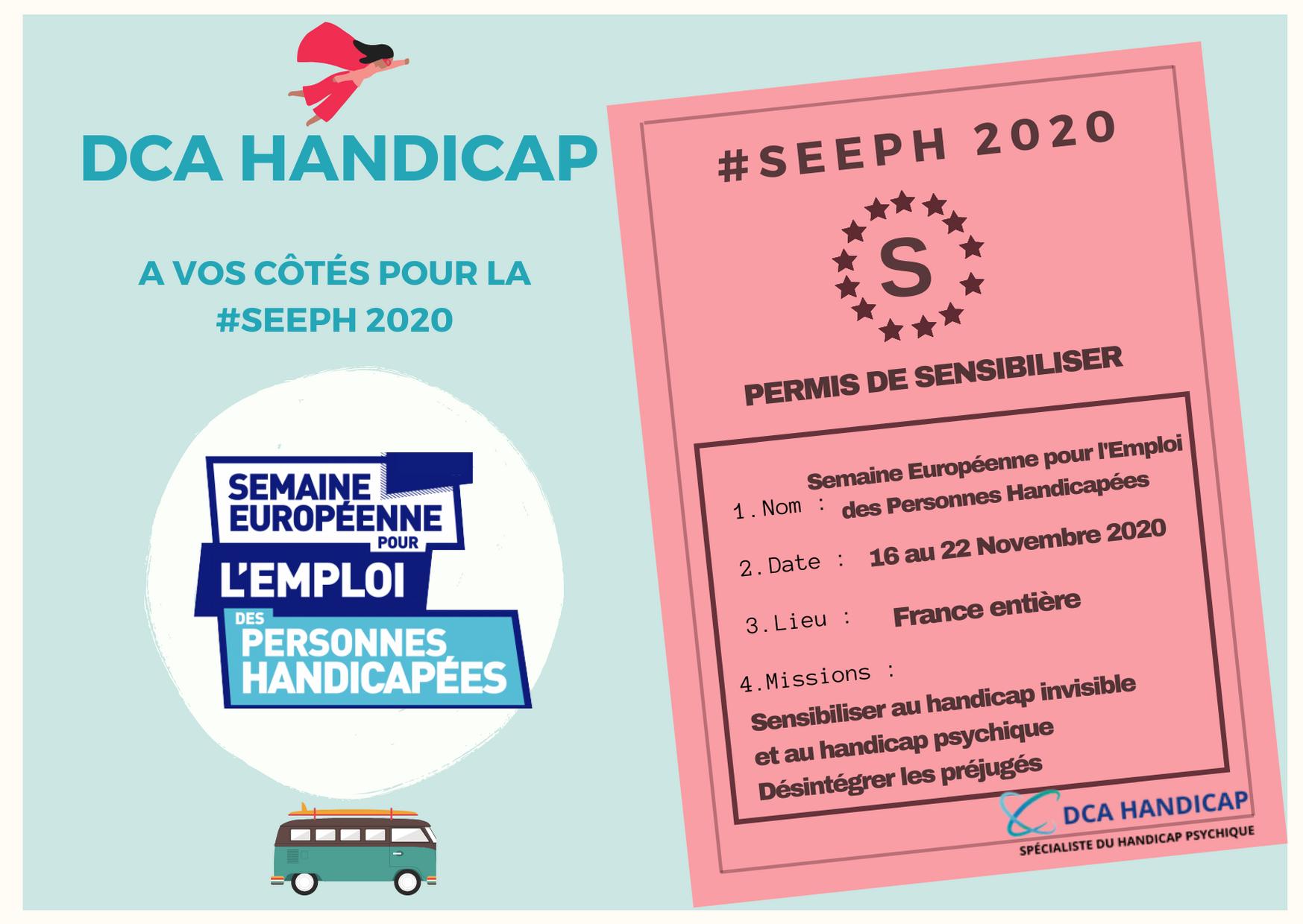 Sensibilisation handicap invisible, handicap psychique, SEEPH 2020